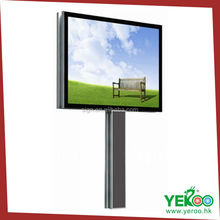 free standing hot sell street advertising led galvanized plate scrolling billboard