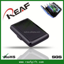 Aluminum material credit card use box waterproof rfid blocking aluma card wallet french press gift set
