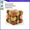 Cubo de madera de serpiente puzzles/rompecabezas en los juguetes y pasatiempos hecho en china