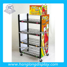Wire Floor Standing Wine/soft Drink/snack/detergent Display Rack