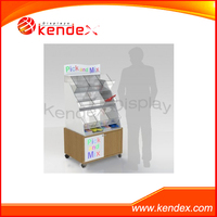 clear acrylic display stand for candy sweet shop supermarket