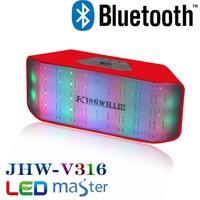 Kingwon 2015 new product ibastek speaker , bluetooth ibastek speaker with led light rival large music system