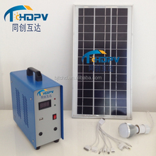 With mini USB and built-in Inverter controller battery panel kit solar power lighting kit for camping fishing lighing