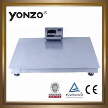 Good quality heavy weight 2 ton digital weighing floor scale