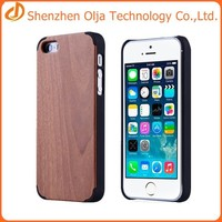Olja hot sell pc+wood back cover case for iphone 6,wooden case for iphone 6