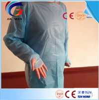 High quality thumb hook cpe gown medical protective gown for disposable use