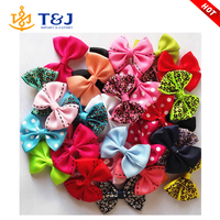 Candy Color Solid/ Dot/ Leopard Print Bow Hair Bows for Baby Girls Kids Hair Accessories