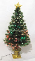 Decorative Tabletop Fiber Optic Christmas Tree with Plug
