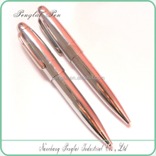 hot selling classical style metal mini shiny silver pen