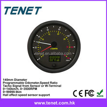 digital truck odometer, adust truck odometer digital reset programmable 140mm 24V odometer
