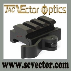 Vector Optics One Pair Tactical Quick Release Medium Picatinny Scoep Mount Rings 30mm Fit on 21mm Picatinny Rail