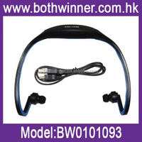 waterproof bluetooth mp3 player , Unique wireless neckband mp3 sport H0T046