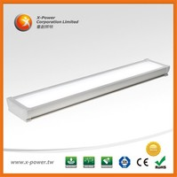 CE RoHS 43W 5ft white PVC recessed ceiling led tri-proof light to replace t8 tubes