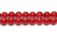 Red Coral Round Beads Mixed Size