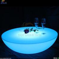 High quality skybess 2015 LED furniture illuminated plastic bar table