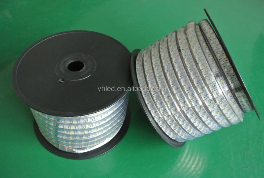 China 110V/220V 18-20lm IP67 smd5050 continuous led strip