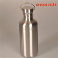sealed mirror surface sinlge wall thermal stainless steel bottle with metal cap
