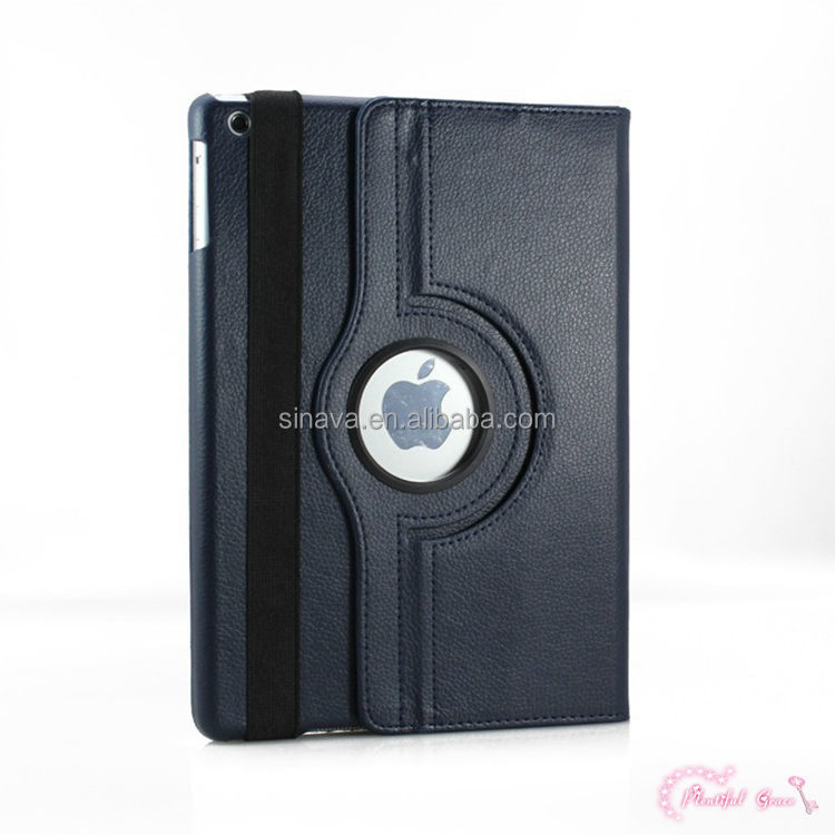 Hot selling high quality 360 Degree Rotate Leather Case Cover For Ipad Air 360 Case Cover