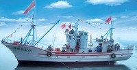 17.3m FRP Material Inboard Diesel Engine Commercial Fishing Boat