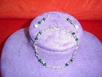 Emerald Crystal Bracelet And Earrings