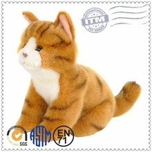 Plush toy cat lifelike cat toys free samples
