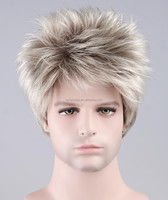 Halloween Party Christmas Costume Short Blonde hair wigs for men
