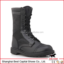Tactical and black leather military combat boots/all black colour actical boots with action leather upper/2015 hot sale tactical