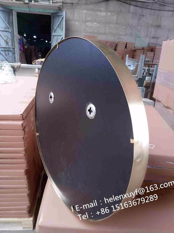 Great Großhandel Billig 55 Durchmesser Schwarz Beschichtet Metallrahmen Dekorative  Wandspiegel Mit Lederband