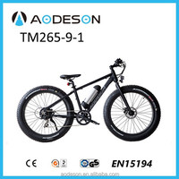 26 inch fat tyre electric mountain bike with light weight Alloy frame