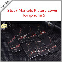2015 New design mobile phone case with Stock Markets Picture for iphone 5