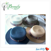 Fashion Unisex PP Braid Flat Top Hat