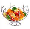 Nest Shape Chrome Fruit Basket Holder Bowl Organizer Friut Rack Stand