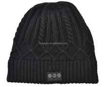Wholesale Cashmere Blank Winter Beanie Hats with bluetooth