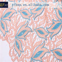 High quality african guipure lace fabric for wig making/ french george lace with stones