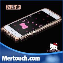 for iphone 5 diamond bumper case purple hello kitty diamond mobile phone case for iphone 5