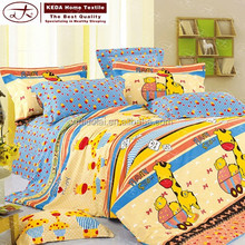 China famous brand print bedding sets cartoon 4 piece bed sheet for kids bedding