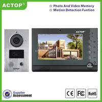 Shenzhen factory high quality apartment video door phone with CCTV camera GMS MMS