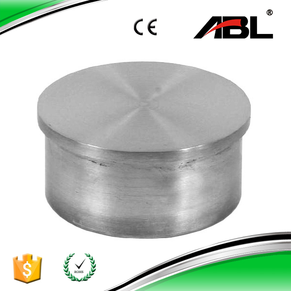 End cap for stainless steel railings pipe fittings