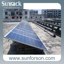 Stable support flat roof, solar shingles