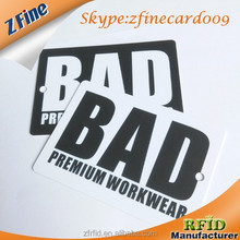 Special big size pvc plastic brand logo cards with hole punch