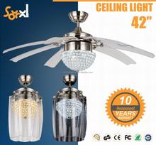 Modern decorative ceiling fan remote control 42 inch