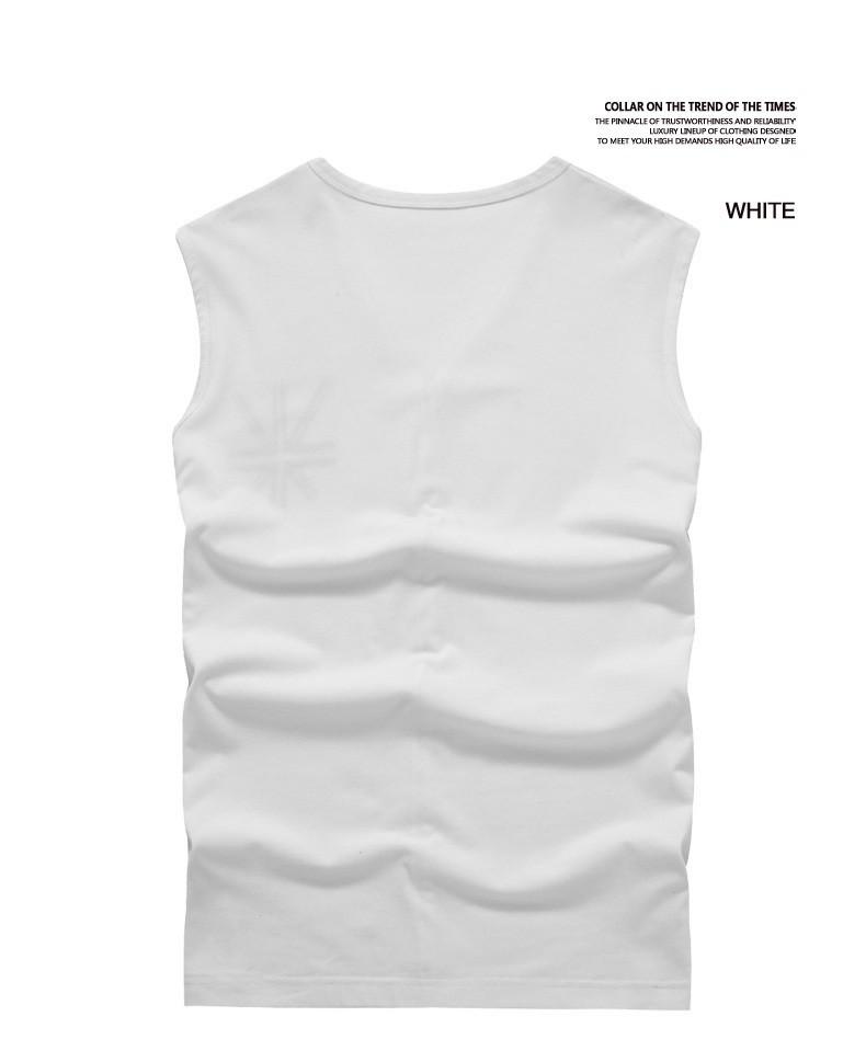 Men Vest Tiled Display white