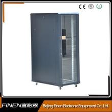 Floor standing glass door 32u network server cabinet for switches,ups and servers