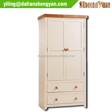 2015 hot 2 Door2 Drawer white lacquer wardrobe solid wood wardrobe reclaimed wood wardrobe