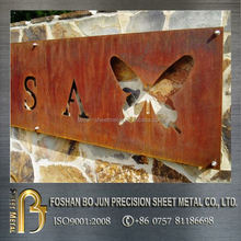 China suppliers sheet metal product customized laser cut wall mounting decoration
