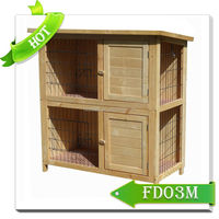 Outdoor Eco-Friendly Wooden Rabbit Cage large cages for rabbits FD03M