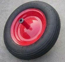 wheelbarrow rubber tire 400-8 4PR ( iron burn-in rim)