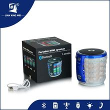 Portable Audio Speaker with LED Flash Light and FT Card and FM Radio