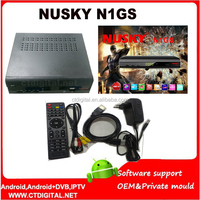 decoder freesky 2015 nusky n1gs south america gprs iks sks dongle nusky n1 gs DVB-S2 & ISDB-T combo receptor digital dvb-t2