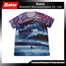 Top quality dri fit polyester elastane shirt/pattern elastane t shirt/polyester shirt